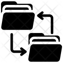 File Exchanging Sharing Icon