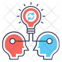 Sharing Thoughts Idea Sharing Idea Transfer Icon