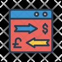 Exchange Transfer Webpage Icon
