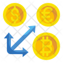 Coin Arrow Exchange Icon