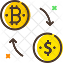 Exchange Bitcoins Exchange Money Bitcoin Exchange Icon
