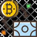Exchange Cash Exchange Money Bitcoin Icon