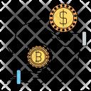 Exchange Conversion Bitcoin Icon