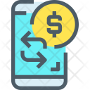 Mobile Banking Exchange Icon