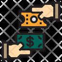 Exchange Money Ticket Icon