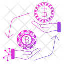 Exchange Conversion Cryptocurrency Icon