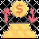 Exchange money to gold Icon
