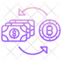 Exchange Money Bitcoin Exchange Money With Bitcoin Exchange Money Icon
