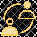 Student Exchange Network Icon