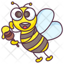 Cartoon Bee Honey Bee Animal Icon