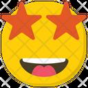 Excited Emoji Star Struck Emoticon Icon