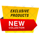 Exclusive Products Label Banner Tag Icon