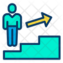 Career Promotion Stairs Icon