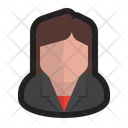 Executive Female Boss Corporate Icon