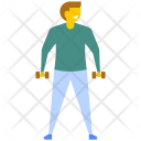 Exercising Guy Icon