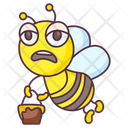 Cartoon Bee Honey Bee Animal Icon
