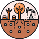 Exhaustion Of Land Resources Environment Deforestation Deforeatation Icon