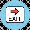 Exit Direction Arrow Icon
