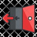Exit Out Door Icon