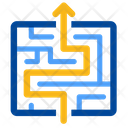 Exit Labyrinth Maze Icon
