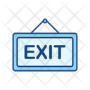 Exit Exit Sign Board Sign Board Icon