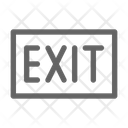 Exit Sign Close Icon