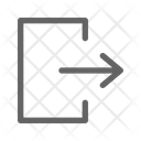 Exit Logout Sign Icon