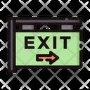 Exit Exit Sign Exit Signboard Icon