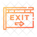 Exit Exit Sign Exit Signboard Icon