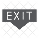 Exit Emergency Doorway Icon