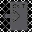 Exit Evacuate Emergency Icon