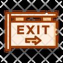 Exit Exit Board Exit Gate Icon