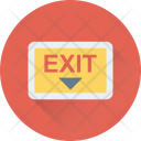 Exit Out Emergency Icon