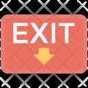 Exit Sign Departure Icon