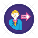 Exit Out Get Out Icon