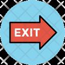 Exit Sign Way Icon