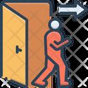 Exit Egress Evacuation Icon