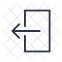 Out Exit Logout Icon