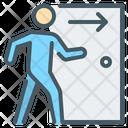Dismissal Employee Exit Icon