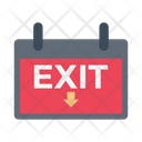 Exit Board Sign Icon