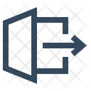 Exit Leave Log Icon