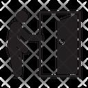 Exit Door Stick Figure Icon