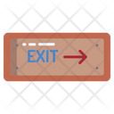 Exit Sign Entrance Icon