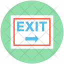 Exit Sign Emergency Icon