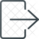 Exit Icon in Colored Outline Style