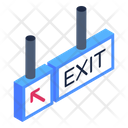 Exit Sign Board Exit Direction Board Exit Banner Icon