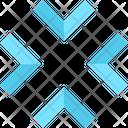 Arrow Exit Fullscreen Minimize Icon