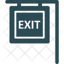 Emergency Exit Exit Sign Hanging Sign Icon