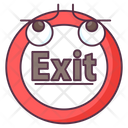 Exit Sign Exit Symbol Egress Sign Icon