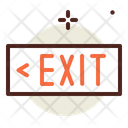 Exit Sign Exit Signboard Emergency Exit Icon